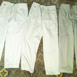 3 Pairs Men's Khaki Work Pants